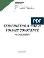 Relatório 13 de Física Experimental I