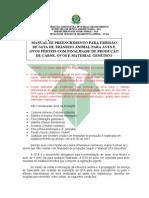 Manual de preenchimento para guia de trânsito animal - GTA