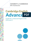 Cambridge English Advanced Leaflet
