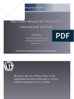 How Cyber Attacks Will Be Used in International Conflicts Scott Borg 2010