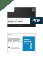 Design of Pipe Culverts