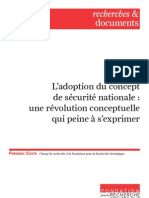 L'adoption du concept de sécurité nationale