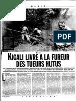 Kigali livré à la fureur des tueurs Hutus (Libération, 11 avril 1994) - JF Ceppi