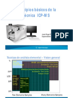 Principios básicos de la técnica ICP-MS Inducción de Plasma Acoplada