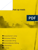 Post Op Meds