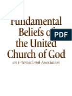 Fundamental Beliefs United Church of God