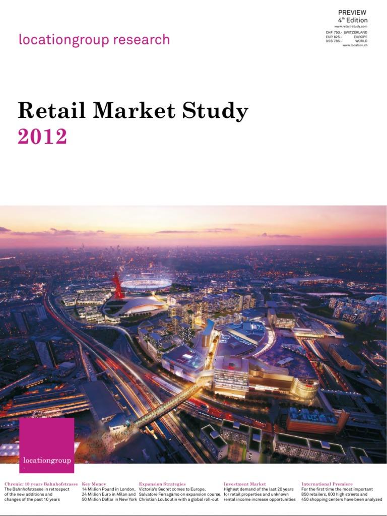 Retail Marketstudy 2012 - Location Group   Shopping Mall   Retail