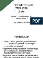 2. Ekonomi Teknik (Prog Liniear)