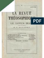 La Revue Théosophique , Le Lotus Bleu N° 11, Janvier 1931