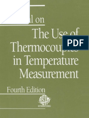 Manual on the Use of Thermocouple in Temperature Measurement