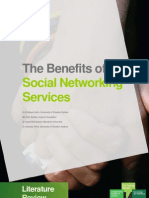 FINAL the Benefits of Social Networking Services Lit Review