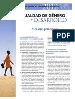 Igualdad de Género y Desarrollo -BM