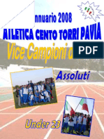 Annuario 2008 Atletica Cento Torri Pavia