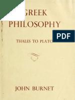 BURNET, J. De Tales a Platão (eng).