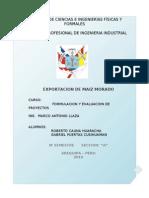 Exportacion de Maiz Morado