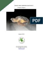 Turtle Conservation Progress Report August 2011