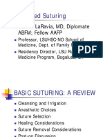 Advanced Suturing - Dr. LaRavia