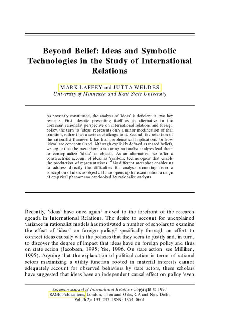 Beyond belief ideas and symbolic technologies in the study of beyond belief ideas and symbolic technologies in the study of international relations causality metaphor buycottarizona
