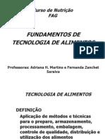 Fundamentos Da Tecnologia de Alimentos