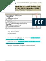 Direito processual penal - sujeitos no processo