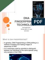 Dna Fingerprinting Technology