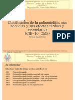 ClasificacionPolioYPadecimientosDerivadosCIE-10