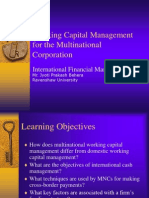 Working Capital Management for International Companies