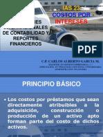 IAS 23 COSTOS POR INTERESES CARLOS ALBERTO GARCIA M.