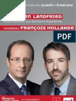 Tract de soutien de Julien Landfried à François Hollande