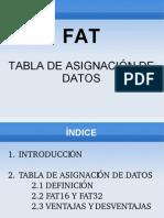 Tabla de asignación de datos(FAT)