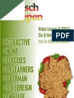Transcript Video Lesson V-G0015 Sie & Ihnen + Exercise