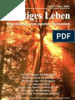 Geistiges Leben 2004-5