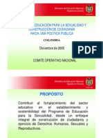 Proyecto Educación para la Sexualidad y Construcción de Ciudadanía (PESCC)