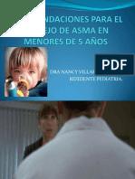 Recomendaciones Para El Manejo de Asma en Menores