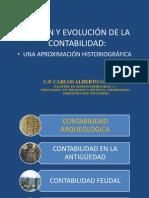 EVOLUCIÓN DE LA CONTABILIDAD UNA APROXIMACIÓN HISTORIOGRÁFICA
