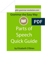 Parts of Speech Quick Guide