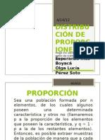 DISTRIBUCIÓN DE PROPORCIONES Exposición2