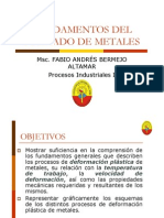 Fundamentos Del Formado de Metales