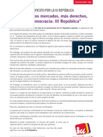 Manifiesto III República