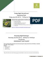 DockDogs Eastern Regional Championships - Friday / Saturday Night Socials