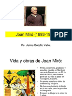 Joan Miró (1893-1983). Ps. Jaime Botello Valle