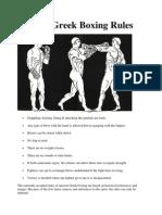 Ancient Greek Boxing Rules