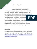 Contaminación auditiva en Medellín
