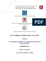 Auditoria Impacto Definitivo Tema II XVI OLACEFS