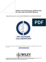 Cochrane Review - First Four Years & Early Treatment for OME