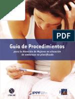 Guia de Procedimientos Para La Atencion de Mujeres en Situacion de Embarazo No Planificado