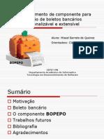 Misael - Bopepo - Componente Bancário -  Apresentação TCC