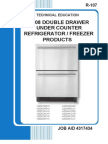 2008 Double Drawer Refrigerator_freezer Under Counter Products