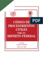 Codigo Procesal Civil Distrito Federal - Mexico