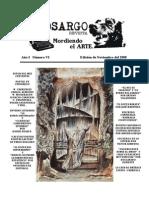 Cinosargo número VI edición de noviembre.